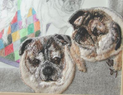 Pugs Embroidery